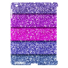 Violet Girly Glitter Pink Blue Apple iPad 3/4 Hardshell Case (Compatible with Smart Cover)