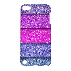 Violet Girly Glitter Pink Blue Apple iPod Touch 5 Hardshell Case