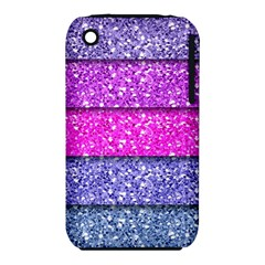 Violet Girly Glitter Pink Blue iPhone 3S/3GS