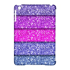 Violet Girly Glitter Pink Blue Apple iPad Mini Hardshell Case (Compatible with Smart Cover)