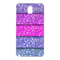 Violet Girly Glitter Pink Blue Samsung Galaxy Note 3 N9005 Hardshell Back Case