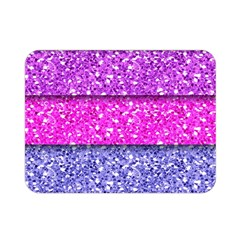 Violet Girly Glitter Pink Blue Double Sided Flano Blanket (Mini)