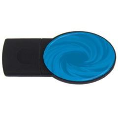 Whirlpool Hole Wave Blue Waves Sea USB Flash Drive Oval (1 GB)
