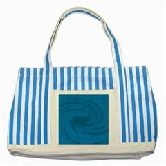 Whirlpool Hole Wave Blue Waves Sea Striped Blue Tote Bag