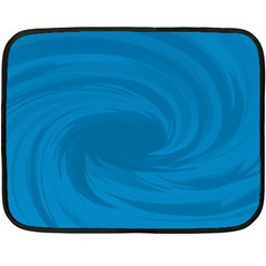Whirlpool Hole Wave Blue Waves Sea Fleece Blanket (Mini)