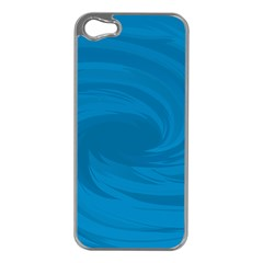 Whirlpool Hole Wave Blue Waves Sea Apple iPhone 5 Case (Silver)