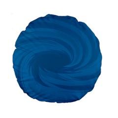 Whirlpool Hole Wave Blue Waves Sea Standard 15  Premium Round Cushions