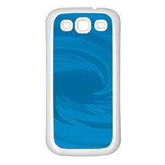 Whirlpool Hole Wave Blue Waves Sea Samsung Galaxy S3 Back Case (White)