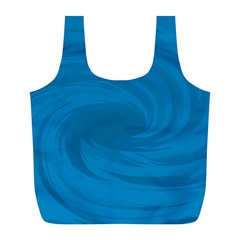 Whirlpool Hole Wave Blue Waves Sea Full Print Recycle Bags (L)