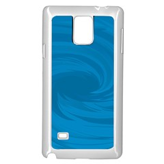 Whirlpool Hole Wave Blue Waves Sea Samsung Galaxy Note 4 Case (White)