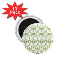 Wood Star Green Circle 1.75  Magnets (10 pack)