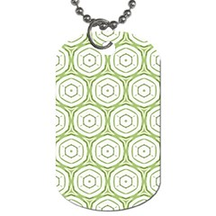 Wood Star Green Circle Dog Tag (One Side)