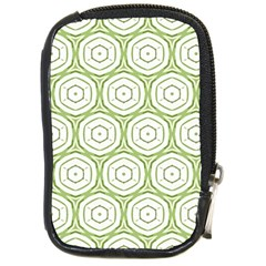 Wood Star Green Circle Compact Camera Cases