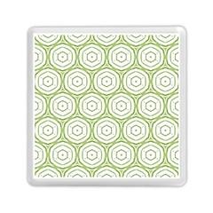 Wood Star Green Circle Memory Card Reader (Square)