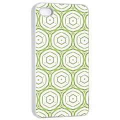 Wood Star Green Circle Apple iPhone 4/4s Seamless Case (White)