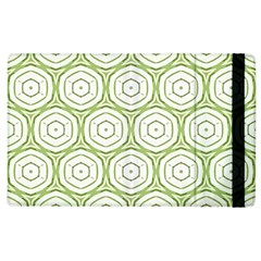 Wood Star Green Circle Apple iPad 3/4 Flip Case