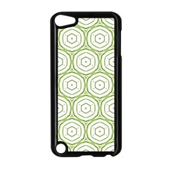Wood Star Green Circle Apple iPod Touch 5 Case (Black)