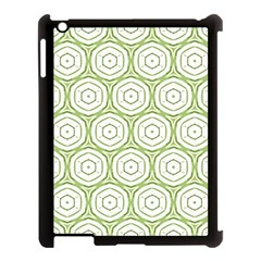 Wood Star Green Circle Apple iPad 3/4 Case (Black)