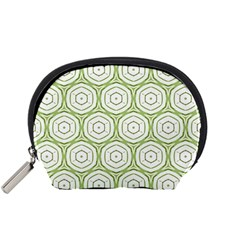 Wood Star Green Circle Accessory Pouches (Small)