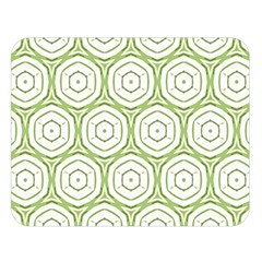 Wood Star Green Circle Double Sided Flano Blanket (Large)