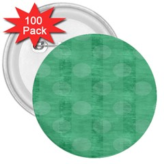 Polka Dot Scrapbook Paper Digital Green 3  Buttons (100 pack)