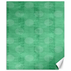 Polka Dot Scrapbook Paper Digital Green Canvas 20  x 24