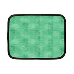 Polka Dot Scrapbook Paper Digital Green Netbook Case (Small)