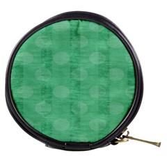 Polka Dot Scrapbook Paper Digital Green Mini Makeup Bags