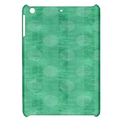 Polka Dot Scrapbook Paper Digital Green Apple iPad Mini Hardshell Case