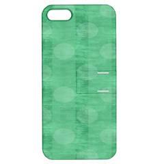 Polka Dot Scrapbook Paper Digital Green Apple iPhone 5 Hardshell Case with Stand