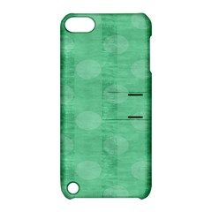 Polka Dot Scrapbook Paper Digital Green Apple iPod Touch 5 Hardshell Case with Stand