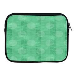 Polka Dot Scrapbook Paper Digital Green Apple iPad 2/3/4 Zipper Cases