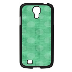 Polka Dot Scrapbook Paper Digital Green Samsung Galaxy S4 I9500/ I9505 Case (Black)