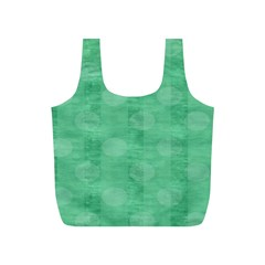 Polka Dot Scrapbook Paper Digital Green Full Print Recycle Bags (S)