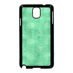 Polka Dot Scrapbook Paper Digital Green Samsung Galaxy Note 3 Neo Hardshell Case (Black)