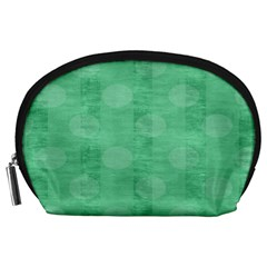 Polka Dot Scrapbook Paper Digital Green Accessory Pouches (Large)