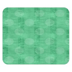 Polka Dot Scrapbook Paper Digital Green Double Sided Flano Blanket (Small)
