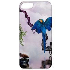 Wonderful Blue Parrot In A Fantasy World Apple iPhone 5 Classic Hardshell Case
