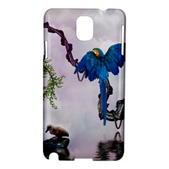Wonderful Blue Parrot In A Fantasy World Samsung Galaxy Note 3 N9005 Hardshell Case