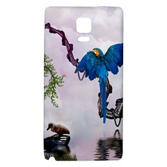 Wonderful Blue Parrot In A Fantasy World Galaxy Note 4 Back Case