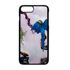 Wonderful Blue Parrot In A Fantasy World Apple Iphone 7 Plus Seamless Case (black)