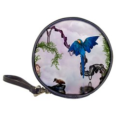 Wonderful Blue Parrot In A Fantasy World Classic 20-CD Wallets