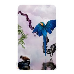 Wonderful Blue Parrot In A Fantasy World Memory Card Reader