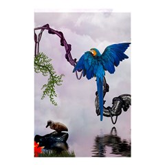 Wonderful Blue Parrot In A Fantasy World Shower Curtain 48  x 72  (Small)
