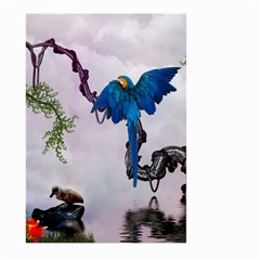 Wonderful Blue Parrot In A Fantasy World Large Garden Flag (Two Sides)