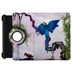 Wonderful Blue Parrot In A Fantasy World Kindle Fire HD 7