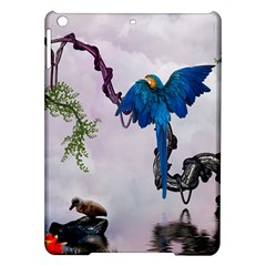 Wonderful Blue Parrot In A Fantasy World iPad Air Hardshell Cases