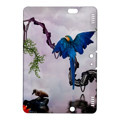 Wonderful Blue Parrot In A Fantasy World Kindle Fire HDX 8.9  Hardshell Case
