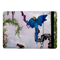 Wonderful Blue Parrot In A Fantasy World Samsung Galaxy Tab Pro 10.1  Flip Case