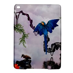 Wonderful Blue Parrot In A Fantasy World iPad Air 2 Hardshell Cases